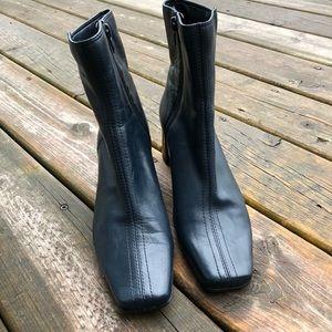 Nine West ankle boots dark teal leather color 8M